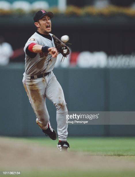 Nomar Garciaparra Shortstop and First Baseman for the Boston Red Sox during during the Major League Baseball American League East game against the...