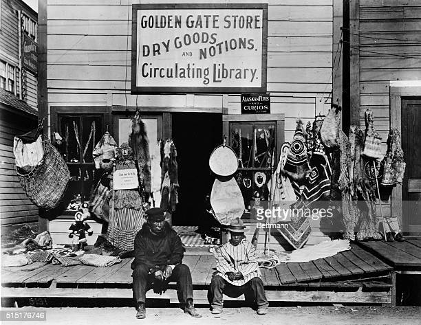 Gold gate Store selling furs and curios