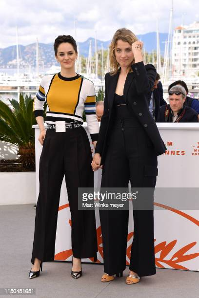 Noémie Merlant and Adele Haene attend the photocall for Portrait Of A Lady On Fire during the 72nd annual Cannes Film Festival on May 20 2019 in...