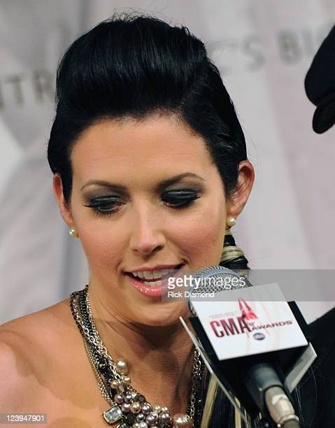 Nominated for 2 CMA awards Husband and Wife duo Thompson Square Pictured Shawna Thompson at the 2011 CMA Awards nominations Held at the Ryman...