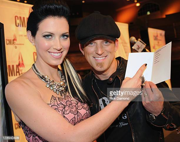 Nominated for 2 CMA awards Husband and Wife duo Thompson Square L/R Shawna Thompson and Keifer Thompson The 2011 CMA Awards nominations were held at...
