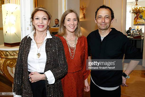 Nominated for 'Moliere de la Comedienne dans un second role' for 'Un certain Charles Spencer Chaplin' Beatrice Agenin and humorist Alex Metayer...