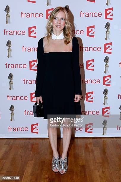 Nominated for Moliere de la Comedienne dans un spectacle de Theatre prive' for 'Un amour qui ne finit pas' Lea Drucker attends 'La 28eme Nuit des...