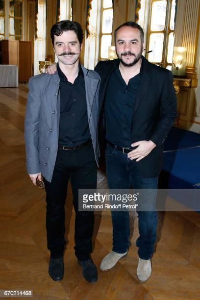 Nominated for 'Moliere de la Revelation Masculine' for 'Edmond' Guillaume Sentou and Nominated for 'Moliere du Meilleur Spectacle d'Humour' Francois...