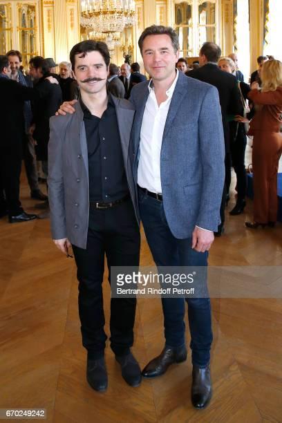 Nominated for 'Moliere de la Revelation Masculine' for 'Edmond' Guillaume Sentou and Nominated for 'Moliere du Meilleur Comedien dans un spectacle de...