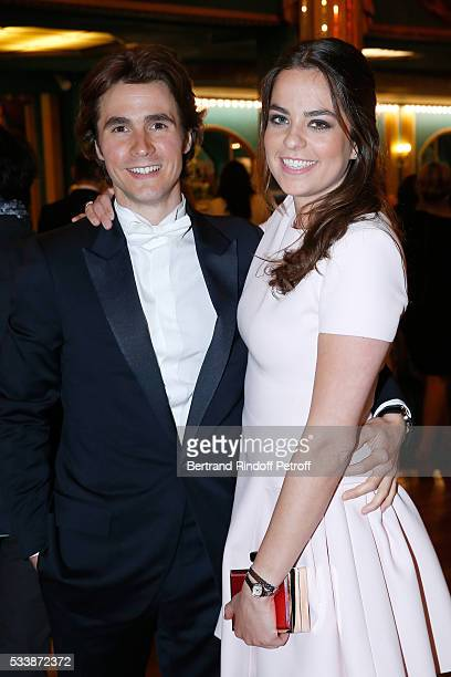 Nominated for 'Moliere de la Revelation masculine' for Libres sont les papillons Julien Dereims and his companion Anouchka Delon attend 'La 28eme...