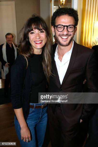 Nominated for 'Moliere du Meilleur Spectacle d'Humour' for 'S'il se passe quelque chose' Vincent Dedienne and his Stage director Juliette Chaigneau...