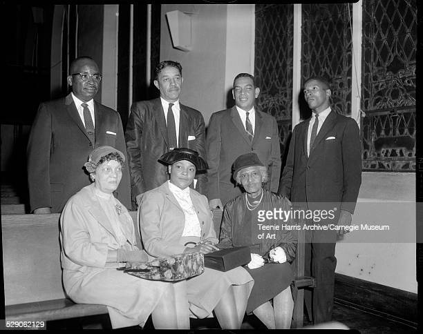 NAACP nominating committee seated from left Carrie Reid Louise Payne Sophia Nelson standing McKinley Tomlin Malvin 'Mal' Goode Atty Henry R Smith Jr...