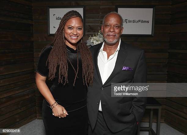 Nominee and presenter Ava DuVernay and honoree Stanley Nelson attend the 32nd Annual IDA Documentary Awards at Paramount Studios on December 9 2016...