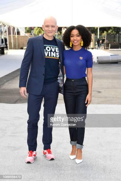 SAG nominee Anthony Carrigan and SAG Awards Ambassador Yara Shahidi attend the 25th Annual Screen Actors Guild Awards Silver Carpet Rollout at The...