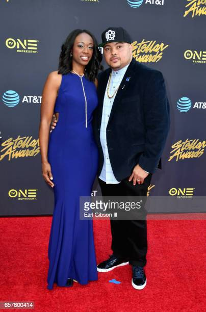Nominee Bizzle arrives at the 32nd annual Stellar Gospel Music Awards at the Orleans Arena on March 25 2017 in Las Vegas Nevada