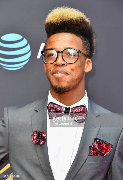 Nominee ChoirBoi Cam arrives at the 32nd annual Stellar Gospel Music Awards at the Orleans Arena on March 25, 2017 in Las Vegas, Nevada.