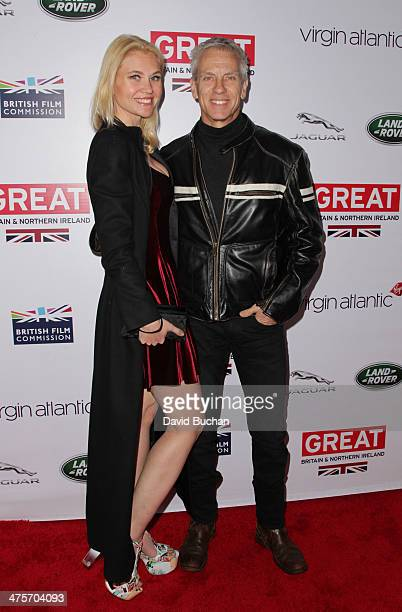 Nominee Chris Sanders and Jessica Steele attends the 2014 GREAT British Oscar Reception on February 28 2014 in Los Angeles California