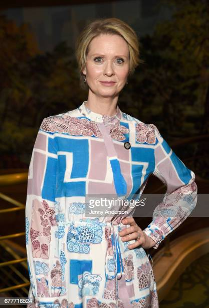 Nominee Cynthia Nixon attends the 2017 Tony Awards Meet The Nominees Press Junket at the Sofitel New York on May 3 2017 in New York City