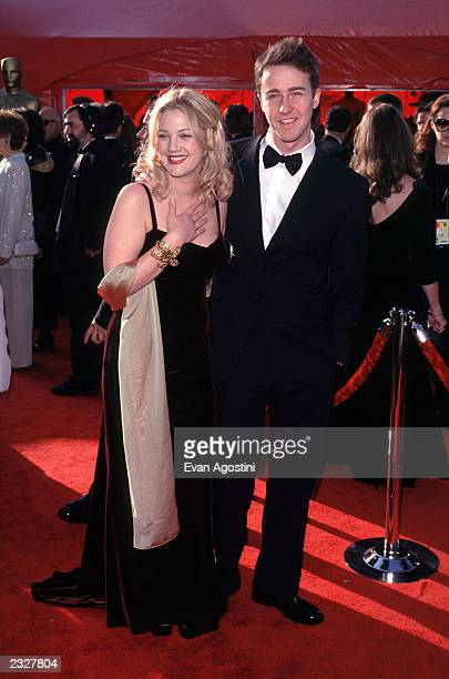 Nominee for Best Actor Ed Norton and Drew Barrymore Photo: Evan Agostini/ImageDirect