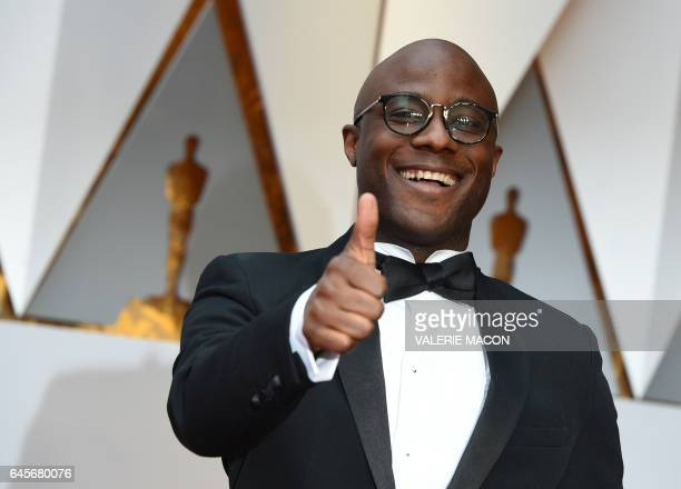 TOPSHOT Nominee for Best Director Moonlight Barry Jenkins arrives on the red carpet for the 89th Oscars on February 26 2017 in Hollywood California /...