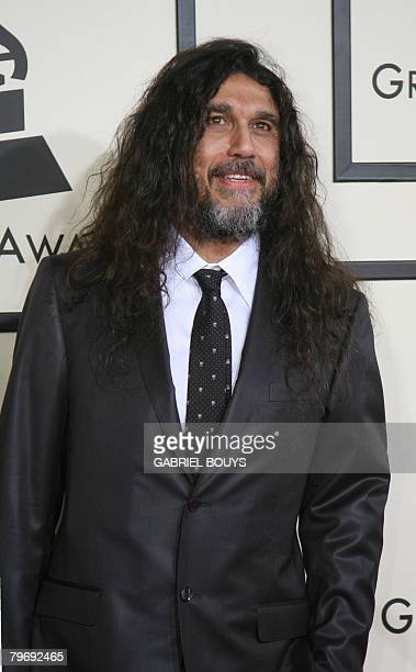 Nominee for Best Metal Performance Slayer arrives at the 50th Grammy Awards in Los Angeles on February 10 2008 AFP PHOTO/Gabriel BOUYS