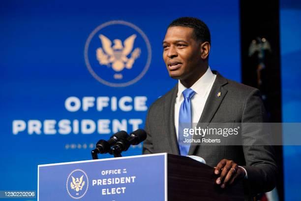 Nominee for EPA Administrator, Michael Regan, speaks at the Queen theater on December 19, 2020 in Wilmington, DE. President-elect Joe Biden announced...
