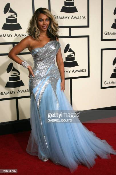 Nominee for Record Of The Year Beyonce arrives at the 50th Grammy Awards in Los Angeles on February 10 2008 AFP PHOTO/Gabriel BOUYS