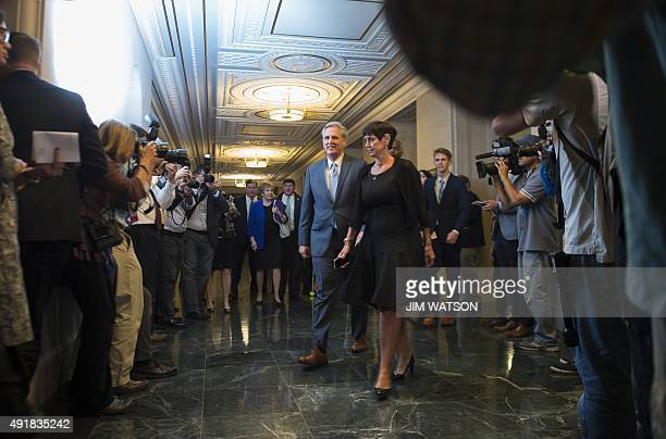 Nominee for Speaker of the House Congressman Kevin McCarthy walks with his wife Judy as they arrive for the Republican nomination for Speaker of the...