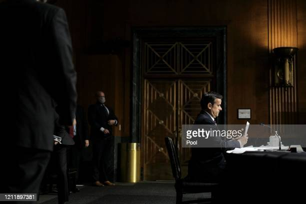 Nominee John L. Ratcliffe testifies during a Senate Intelligence Committee nomination hearing at the Dirksen Senate Office building on Capitol Hill...