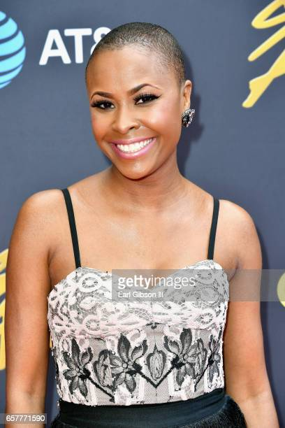 Nominee Latice Crawford arrives at the 32nd annual Stellar Gospel Music Awards at the Orleans Arena on March 25 2017 in Las Vegas Nevada
