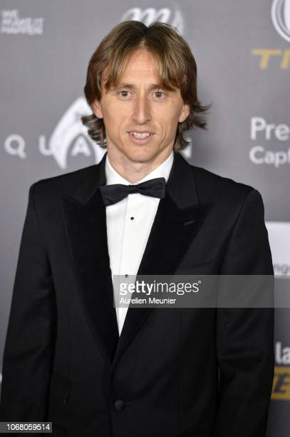 Nominee Luka Modric of Croatia and Real Madrid attends the Ballon D'Or ceremony at Le Grand Palais on December 3 2018 in Paris France