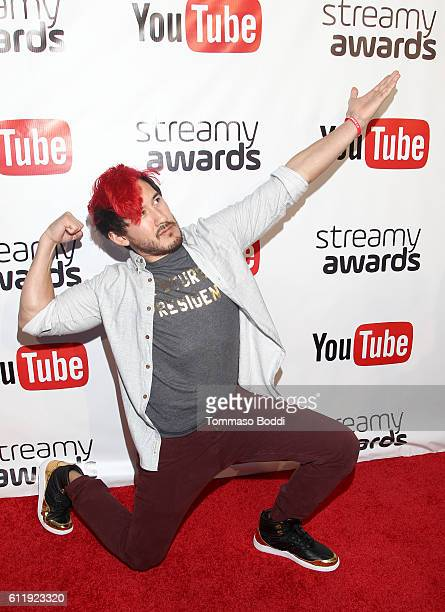 Nominee Markiplier attends the official Streamy Awards nominee reception at YouTube Space LA on October 1 2016 in Los Angeles California
