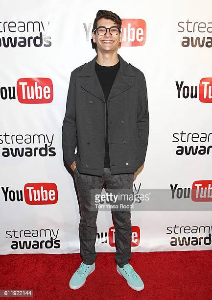 Nominee Noah Grossman attends the official Streamy Awards nominee reception at YouTube Space LA on October 1 2016 in Los Angeles California