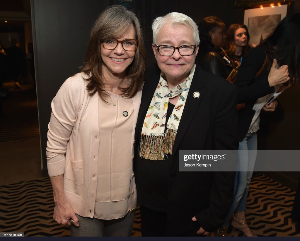 Nominee Sally Field and playwright Paula Vogel attend the 2017 Tony Awards Meet The Nominees Press Junket at the Sofitel New York on May 3, 2017 in New York City.