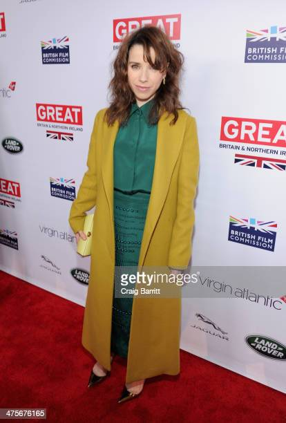 Nominee Sally Hawkins attends the 2014 GREAT British Oscar Reception at British Consul General's Residence on February 28 2014 in Los Angeles...
