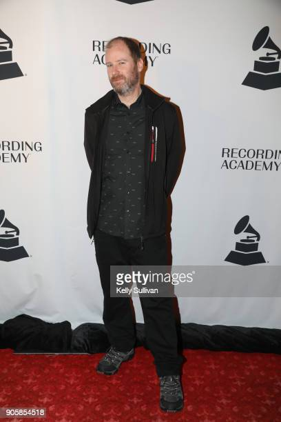 GRAMMY nominee Sean Royce Martin poses for a photo on the red carpet at the San Francisco 60th GRAMMY Award Nominee Celebration on January 16 2018 in...