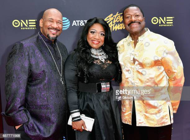 Nominee Sounds of Blackness arrives at the 32nd annual Stellar Gospel Music Awards at the Orleans Arena on March 25, 2017 in Las Vegas, Nevada.