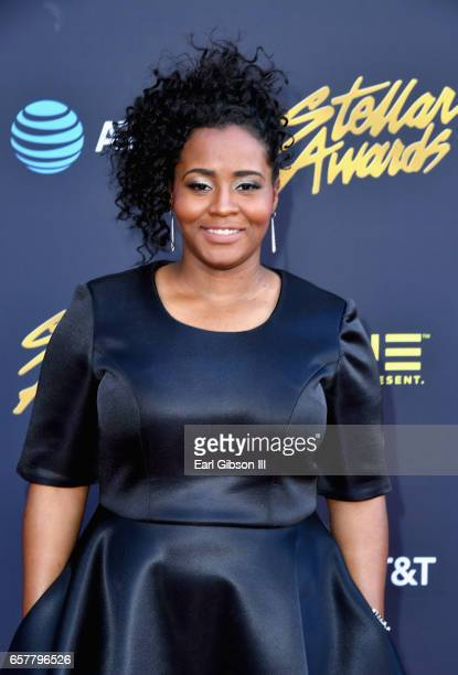 Nominee Tiff Joy arrives at the 32nd annual Stellar Gospel Music Awards at the Orleans Arena on March 25 2017 in Las Vegas Nevada