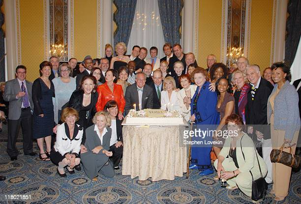 Nominees and former Tony winners gather around Tony's 60th birthday cake
