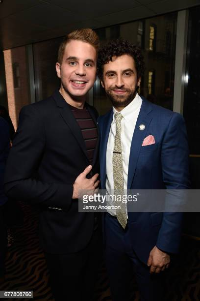 Nominees Ben Platt and Brandon Uranowitz attends the 2017 Tony Awards Meet The Nominees Press Junket at the Sofitel New York on May 3 2017 in New...
