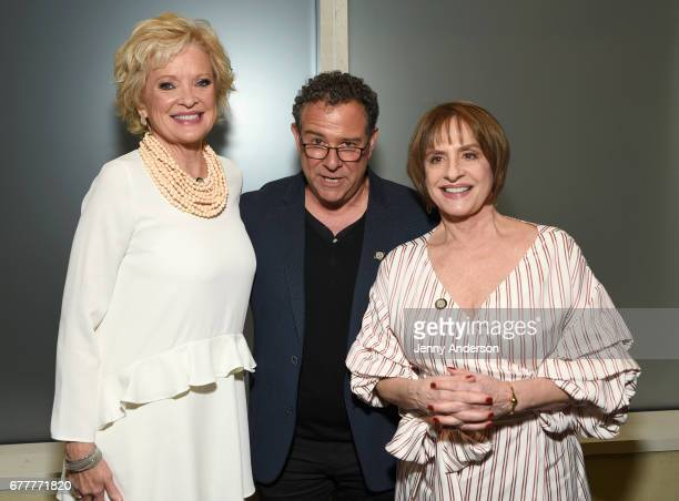 Nominees Christine Ebersole Michael Greif and Patti LuPone attend the 2017 Tony Awards Meet The Nominees Press Junket at the Sofitel New York on May...