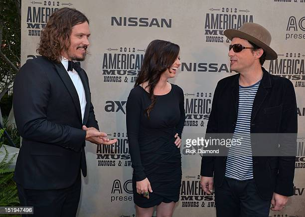 Nominees Civil Wars John Paul White Joy Williams and Singer/Songwriter Jakob Dylan of the Wallflowers walk The Red Carpet before the 11th Annual...