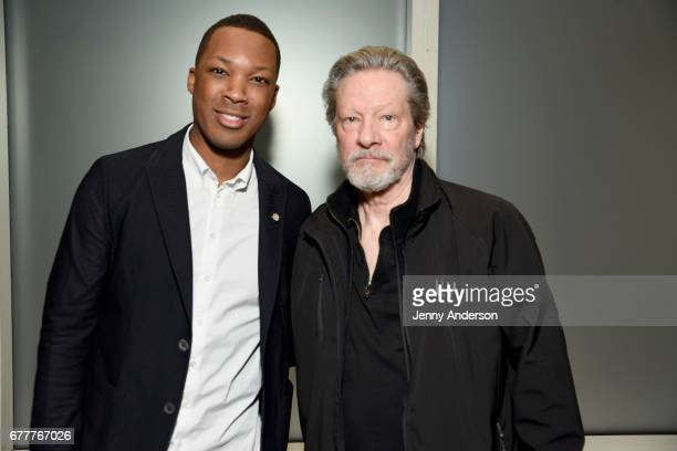 Nominees Corey Hawkins and Chris Cooper attend the 2017 Tony Awards Meet The Nominees Press Junket at the Sofitel New York on May 3 2017 in New York...