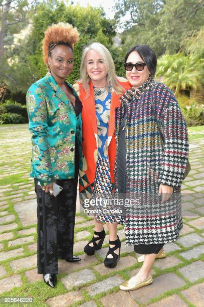 Nominees Dee Rees Darla K Anderson and Ramsey Ann Naito attend the DVF Oscar Luncheon Honoring The Female Nominees Of The 90th Academy Awards on...