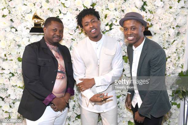 Nominees Dernst D'Mile Emile II Lucky Daye and John Kercy attends LAC's 62nd GRAMMY Nominee Celebration on January 18 2020 in Los Angeles California