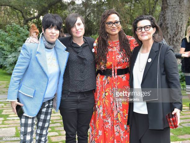 Nominees Diane Warren Rachel Morrison director Ava DuVernay and nominee Tatiana S Riegel attend the DVF Oscar Luncheon Honoring The Female Nominees...