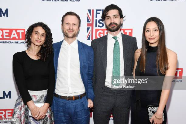 Nominees for best documentary short subject Orlando von Einsiedel and Joanna Natasegara and guests attend Film is GREAT Reception honoring the...