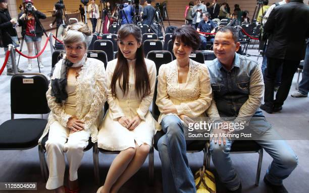 Nominees for the best supporting actress category Susan Shaw DaDa Chan Elaine Jin and best supporting actor category Liu Kaichi attend the preview...