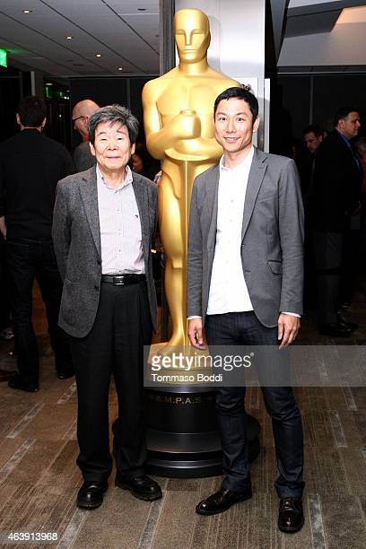 Nominees Isao Takahata and Yoshiaki Nishimura attend the 87th Annual Academy Awards Oscar Week Celebrates Animated Features at Samuel Goldwyn Theater...