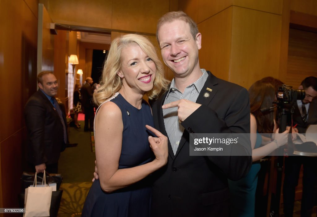 Nominees Kelly Devine and David Hein attend the 2017 Tony Awards Meet The Nominees Press Junket at the Sofitel New York on May 3, 2017 in New York City.