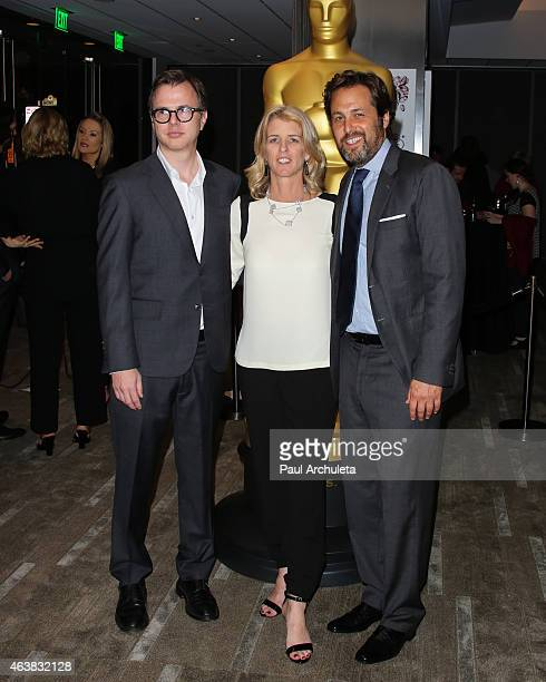 Nominees Keven McAlester Rory Kennedy and Mark Bailey attend the 87th Annual Academy Awards Oscar week celebration of Docs at The Samuel Goldwyn...