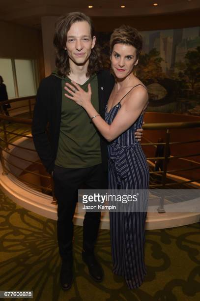 Nominees Mike Faist and Jenn Colella attend the 2017 Tony Awards Meet The Nominees Press Junket at the Sofitel New York on May 3, 2017 in New York...
