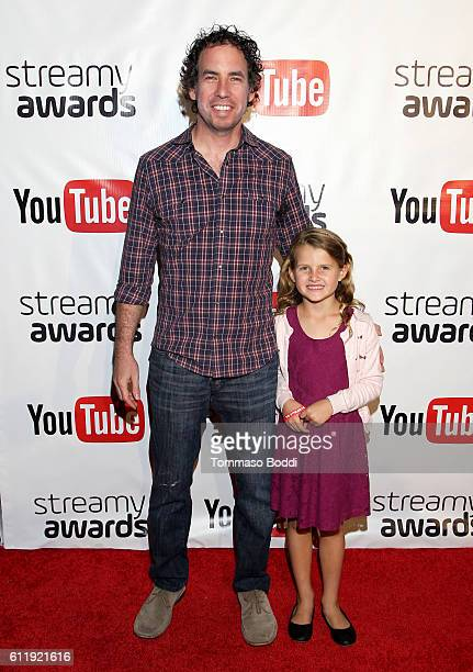 Nominees Oren Katzeff and Millie Katzeff attends the official Streamy Awards nominee reception at YouTube Space LA on October 1 2016 in Los Angeles...