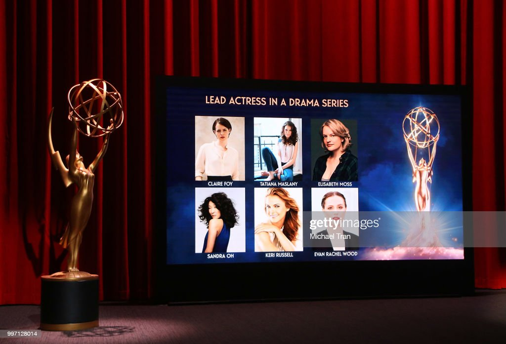 Nominees showcased onstage during the 70th Emmy Awards nominations announcement held at Saban Media Center on July 12, 2018 in North Hollywood, California.